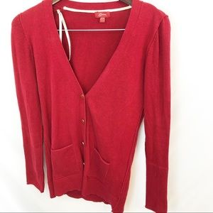 🌵Guess Red Cardigan Sweater Button up  Medium M